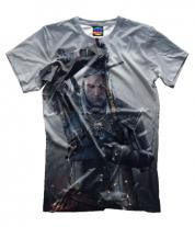 Мужская футболка 3D Ведьмак