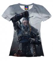 Женская футболка 3D Ведьмак