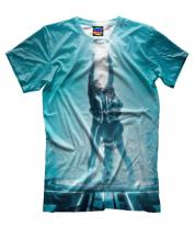 Мужская футболка 3D Tron