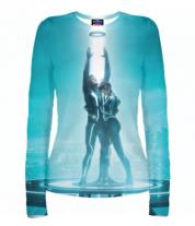 Женская футболка с длинным рукавом 3D Tron