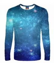Мужская футболка с длинным рукавом 3D Звеёзды