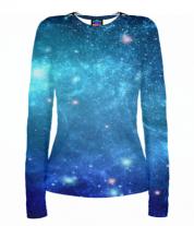 Женская футболка с длинным рукавом 3D Звеёзды