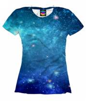 Женская футболка 3D Звеёзды