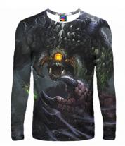 Мужская футболка с длинным рукавом 3D Roshan Dota 2