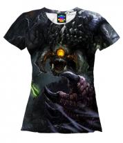 Женская футболка 3D Roshan Dota 2