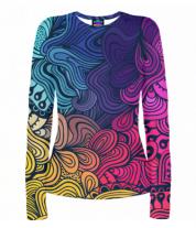 Женская футболка с длинным рукавом 3D Цвета
