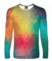 Мужская футболка с длинным рукавом 3D Кубическая абстракция