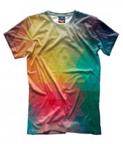 Мужская футболка 3D Кубическая абстракция
