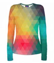 Женская футболка с длинным рукавом 3D Кубическая абстракция