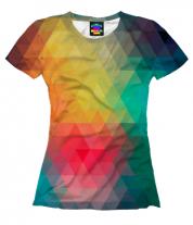 Женская футболка 3D Кубическая абстракция