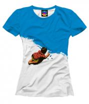 Женская футболка 3D Мелки