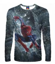 Мужская футболка с длинным рукавом 3D Человек- паук