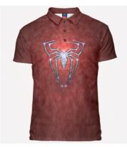 Футболка поло мужская 3D Человек- паук