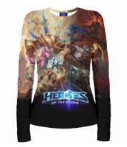 Женская футболка с длинным рукавом 3D Heroes of the storm