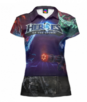 Футболка поло женская 3D Heroes of the storm