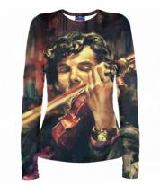 Женская футболка с длинным рукавом 3D Шерлок