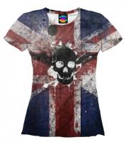 Женская футболка 3D Череп