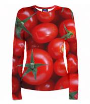 Женская футболка с длинным рукавом 3D Помидор