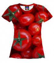 Женская футболка 3D Помидор