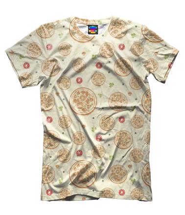 Мужская футболка 3D Пицца