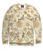 Толстовка без капюшона 3D Пицца