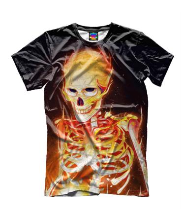 Детская футболка 3D Скелет