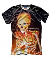 Мужская футболка 3D Скелет