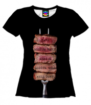 Женская футболка 3D Прожарка