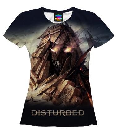 Женская футболка 3D Disturbed