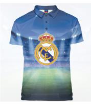Футболка поло мужская 3D Real Madrid