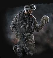 Толстовка без капюшона 3D Warface