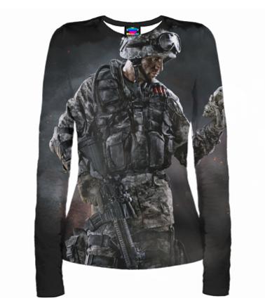 Женская футболка с длинным рукавом 3D Warface