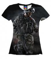 Женская футболка 3D Warface