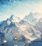 Футболка поло мужская 3D Вершины гор