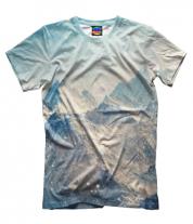 Мужская футболка 3D Вершины гор