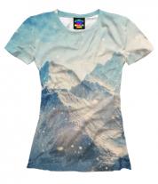 Женская футболка 3D Вершины гор