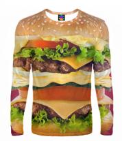 Мужская футболка с длинным рукавом 3D Бургер