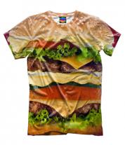 Мужская футболка 3D Бургер