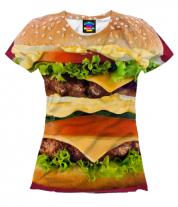 Женская футболка 3D Бургер