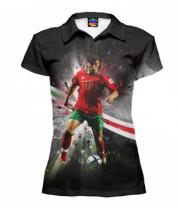 Футболка поло женская 3D Роналду