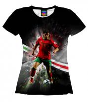 Женская футболка 3D Роналду