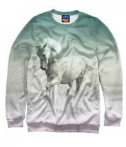 Толстовка без капюшона 3D Лошадь