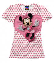 Женская футболка 3D Минни Маус