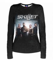Женская футболка с длинным рукавом 3D Skillet