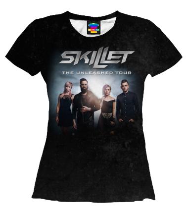 Женская футболка 3D Skillet