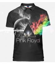 Футболка поло мужская 3D Pink Floyd