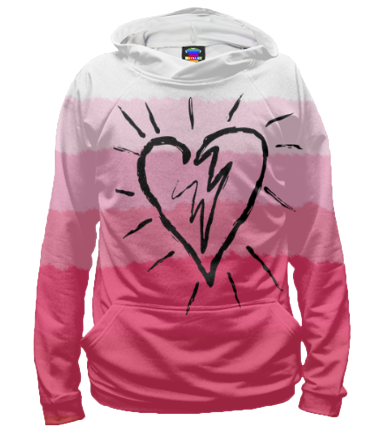 Толстовка 3D Сердце