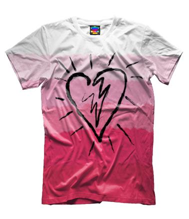 Мужская футболка 3D Сердце