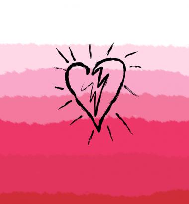 Толстовка без капюшона 3D Сердце