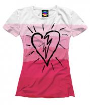 Женская футболка 3D Сердце